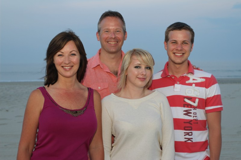 Dr. Pronek and family - Outer Banks, N.C.